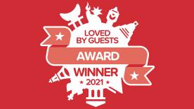 2021 年の Loved by Guests (お客様が選ぶ人気宿アワード)